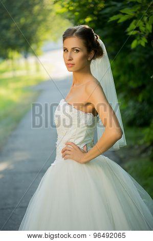 wedding bride smiling.