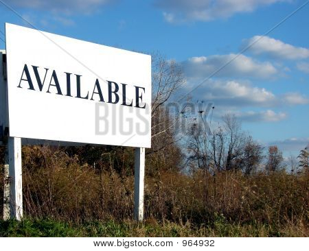 Real Estate Available Sign