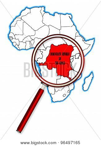 Democratic Republic Of The Congo Under A Magnifying Glass