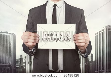 Lock in your mortgage rate on paper