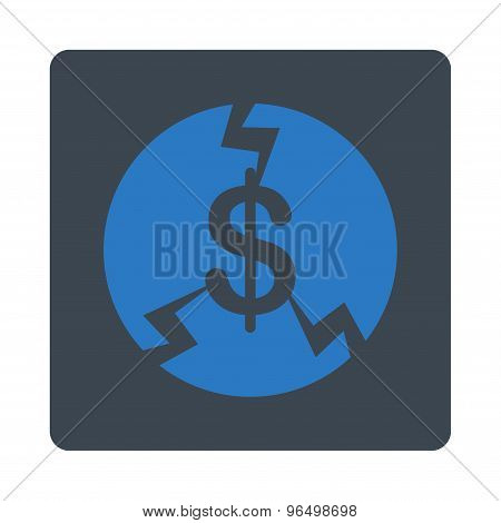 Financial Crash Icon from Commerce Buttons OverColor Set