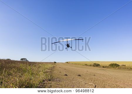 Flying Microlight Plane Blue