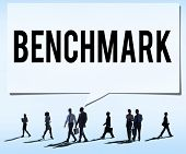 pic of average man  - Benchmark Standard Management Improvement Benchmarking Concept - JPG