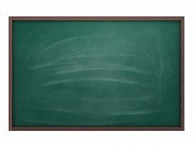 stock photo of chalkboard  - Empty chalkboard green  - JPG