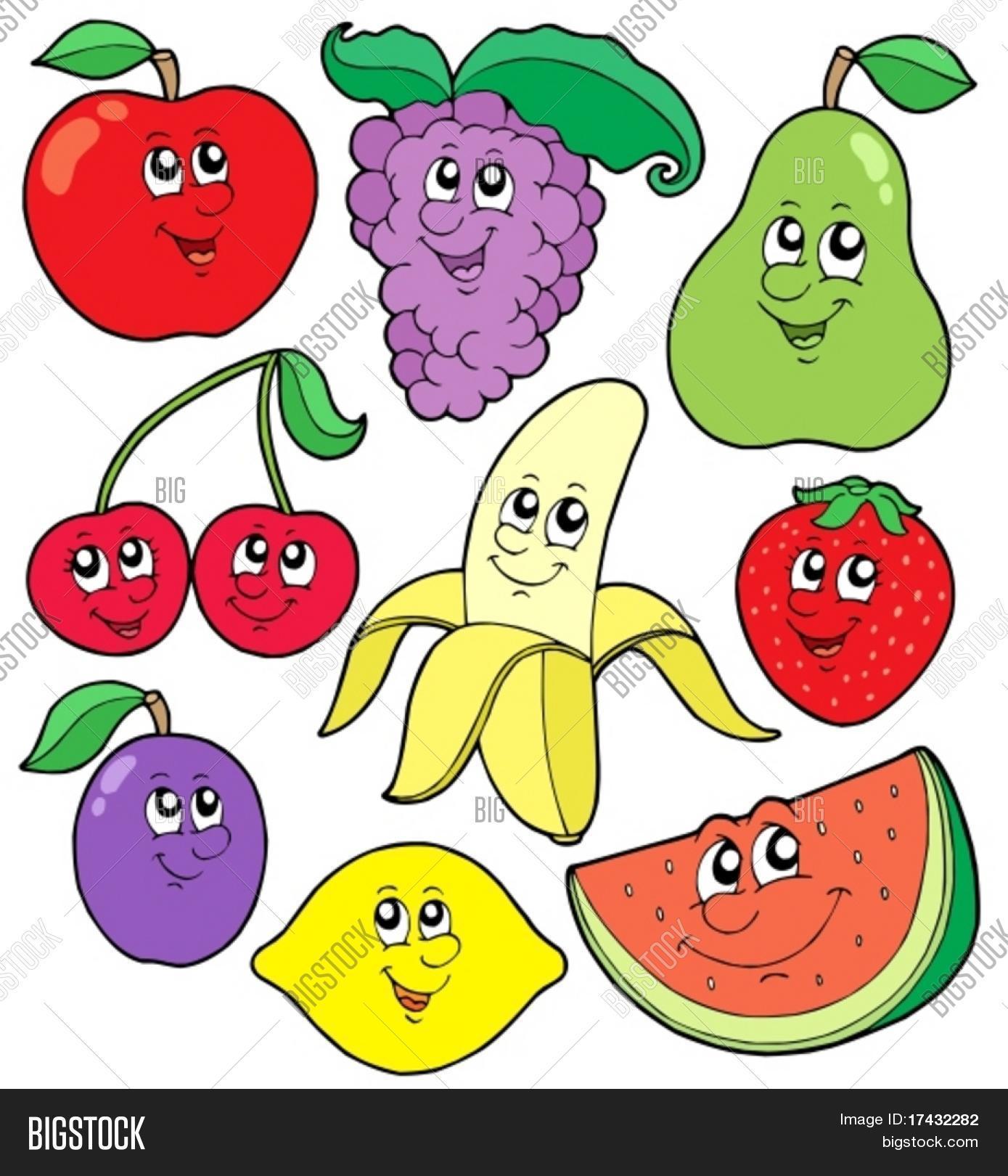 Vector y foto Coleccin De Frutas 1  Vector  Bigstock