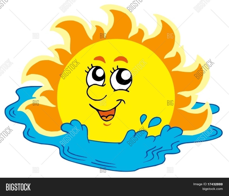 Vector y foto Tomar El Sol En El Mar  Ilustraci  Bigstock