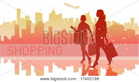 big city women shopping
