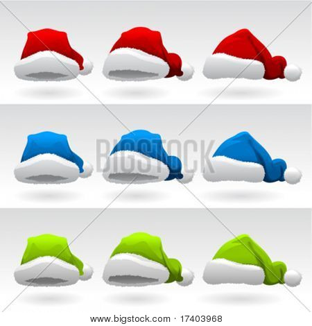 santa claus hat ( 3 different colors )