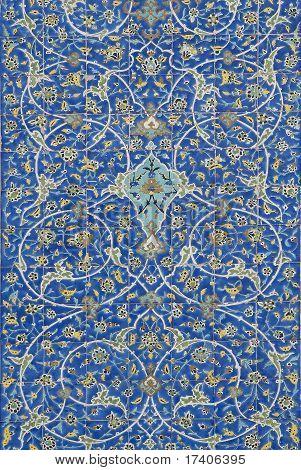 Traditional Persian Ceramic Tiles In Isfahan Iran