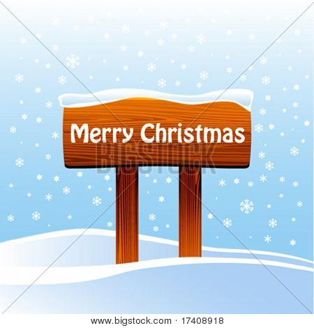 wood sign with christmas message