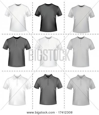 Shirts. Photo-realistic vector