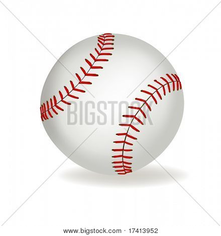 Baseball ball on a white background. Vector.