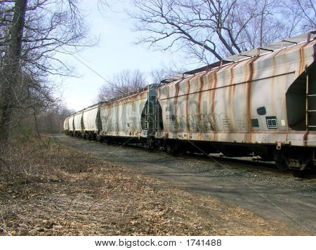 Railroad RR Tank Cars on Tracks