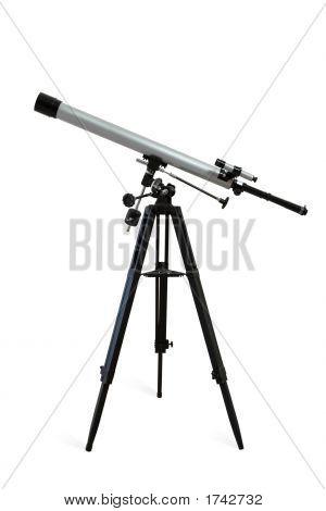 Telescope Isolated On White