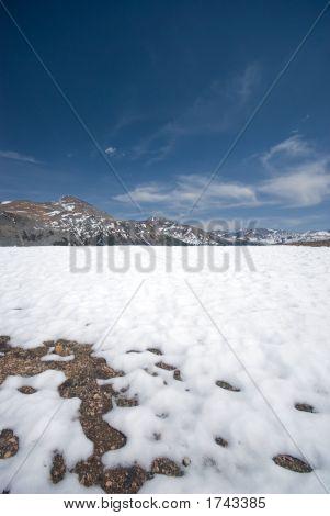 Snowy Landscape In The High Sierra