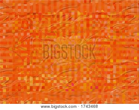 Orange Plastic Foil With Checkers Pattern - Digital Illustration