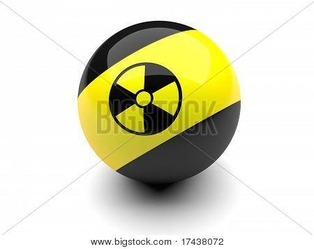 Billiard Ball With Radiation Signs