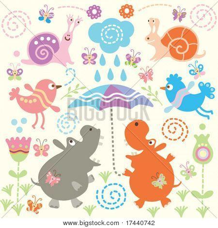 Seamless pattern of animal