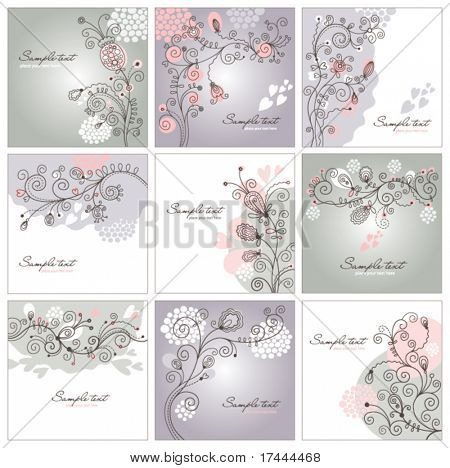conjunto floral backgrounds