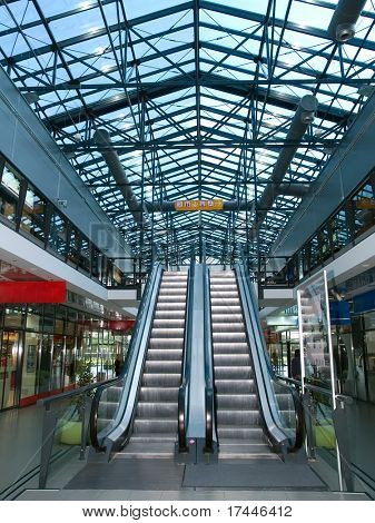 interior of a shopping mall