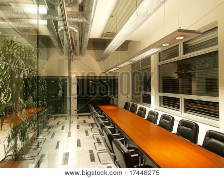 view to a large boardroom