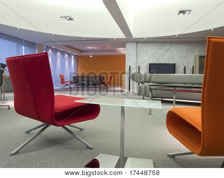 interior of a modern meeting room