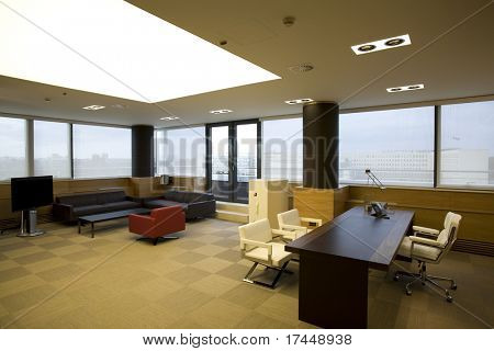 business office in modern apartment