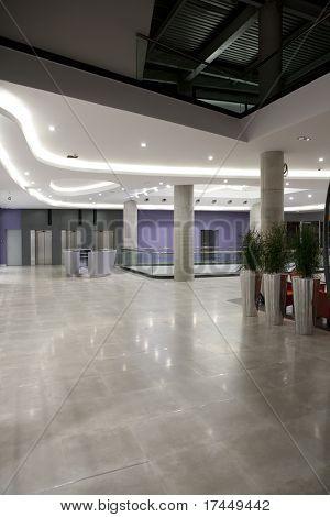 lobby interior in modern building