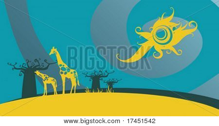 Giraffes. Please see some similar pictures from my portfolio