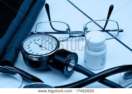 Medical hospital background