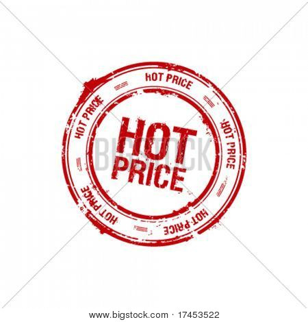 vector hot price red stamp