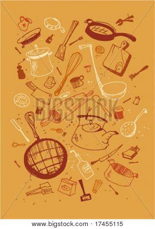 Vector illustraition of kitchen utensil