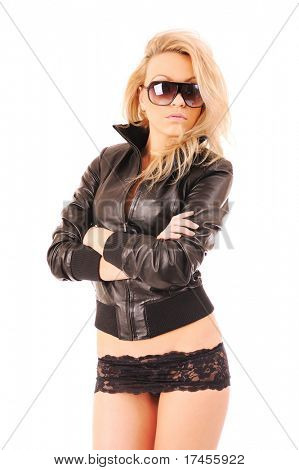 picture of attractive blonde woman in sun glasses