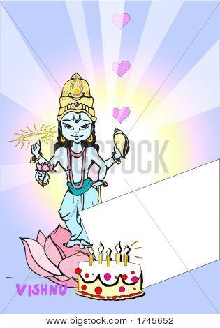 Happy Birthday Card - Vishnu