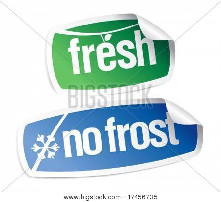 Eco stickers icon set