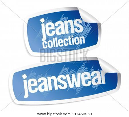 Jeanswear collection stickers set