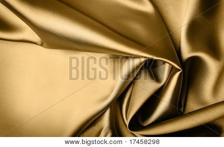 Smooth elegant gold satin background