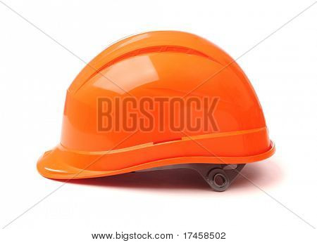 Construction Helmet isolated on white, side view.