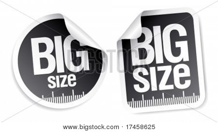 big size clothing stickers set