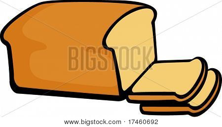 bread loaf and slices