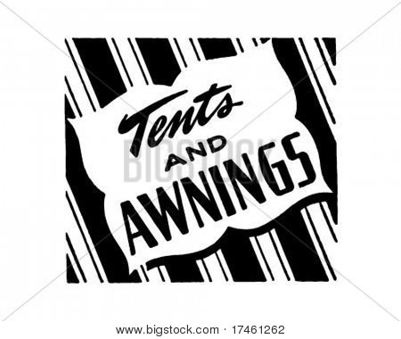 Tents And Awnings - Retro Ad Art Banner