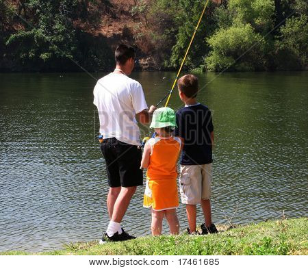 Young Family Fishing