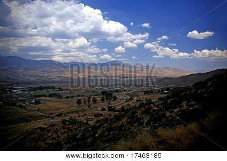 Mountain Range Landscape from High Above