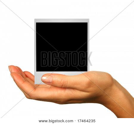 Human Hand Isolated on White: Insert Product or Object