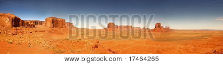 Panoramic View of Monument Valley, Navajo Nation, Arizona USA