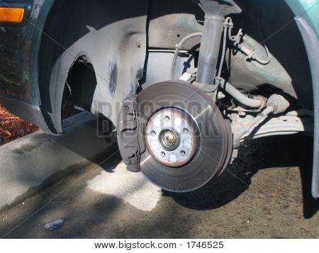 Car Disc Brakes Close Up