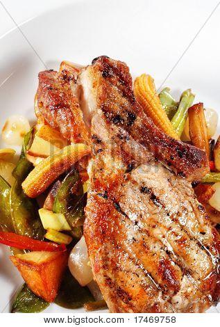 Brisket of Pork with Vegetables