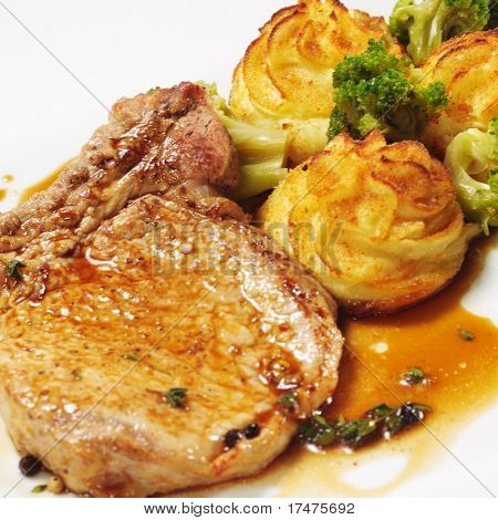 Hot Meat Dishes - Bone-in Pork Brisket with Potato