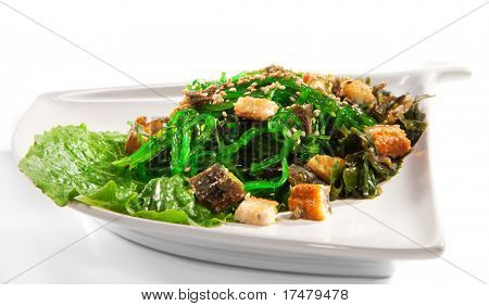 Japanese Cuisine - Seaweed Salad with Conger