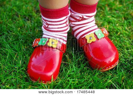 My wooden red shoes